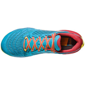 La Sportiva Akasha Zapatillas running Hombre, tropic blue/cardinal red